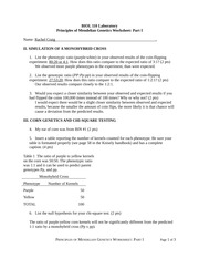 Mendelian Genetics Worksheet And Answer Key: Mendelian Genetics Study Resources,