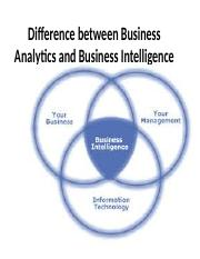 Difference between Business Analytics and Business Intelligence