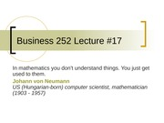 Business 252 17 Linear Programming Redux
