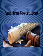 AMERICAN GOVERNMENT(1)