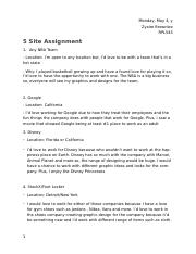 5 SITE ASSIGNMENT .docx