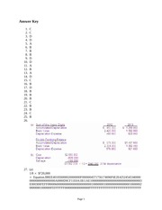 ACC 310 FA 2014 Chap 11 Practice Answers