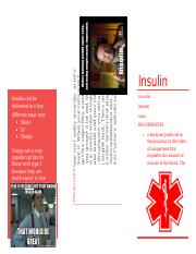 Nutrition Insulin