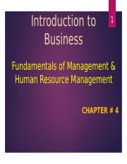 Introduction to Business - C4