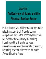 bank and financial services