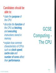 Lesson 08 - The CPU.ppt