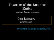 Class 2c Business Deductions Depreciation & Amortization