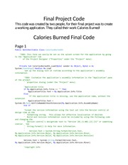 Final Project Code