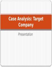 Case Analysis Target Company.pptx