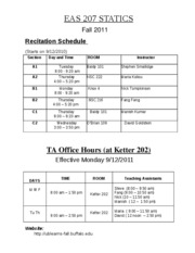 EAS 207Recitation-TA-Office-hours-fall2011