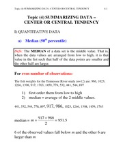 STA6166 F05-4 Measures of Center