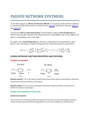 PASSIVE NETWORK SYNTHESIS.pdf