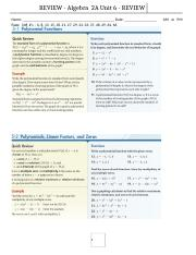 15-16_Unit 6 test REVIEW_Polynomials and Polynomial Functions