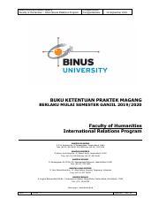 Buku Kp Magang Ganjil 2019 2020 International Relation Pdf Buku Petunjuk Praktek Magang Faculty Of Humanities U2013 International Relations Program Course Hero