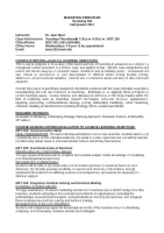 West--FINAL--Marketing Principles Syllabus--MKT 300--Fall 2012