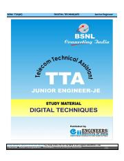BSNL-TTA-JE-Digital-Techniques