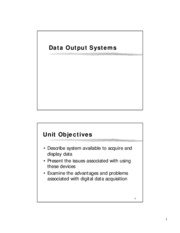 TFL09 Output Systems and DAQ