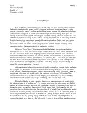 Literary Analysis- good times final essay