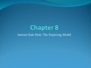 Week06 - Ch08 - Interest rate risk - the repricing model