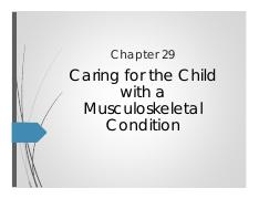 Ward Chapter 29 Musculoskeletal Disorders NUR 264 [Compatibility Mode]
