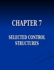 Ch 7_Selected Control Structures