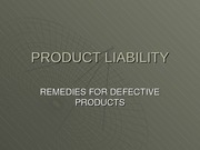 PRODUCTLIABILITY