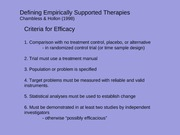 Empirically Supported Treatments
