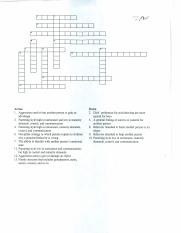 Childhood Crossword Puzzle (1)
