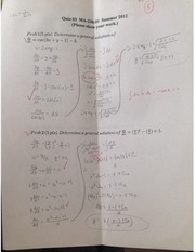 Applied Differential Equations Quiz 3