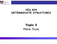 CES424 - Topic 3a (Plane Truss - Analysis)