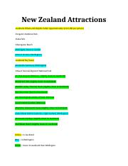New Zealand Attractions.docx
