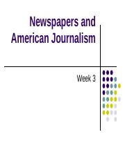 Week 2-newspapers and American journalism(1).ppt