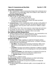 Communications - Chapter 10 Notes