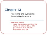 Chapter 13-measuring and Evaluating Financial Performance