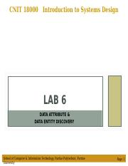 Lab 6 - Data Attribute & Data Entity Discovery.ppt