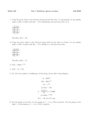 Test 1 Solutions B