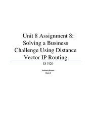 Unit 8 Assignment 8 - Solving a Business Chanllenge Using Distance Vector IP Routing