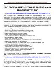 pre_calculus_stewart_6th_edition_solutions_manual pdf - Pre