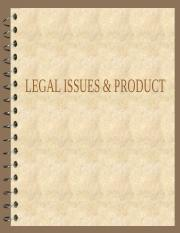 (New) Legal Issues and Product.ppt