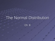 TheNormalDistribution