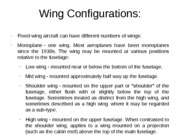 Wing Configurations or Profiles