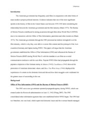 Essay Example for Film, Television, and Society