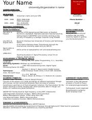 One-Page CV format.doc