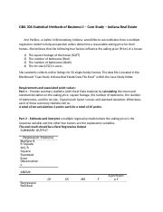 The Case Study - Indiana Real Estate - GBA306 Stats II - SP18.docx