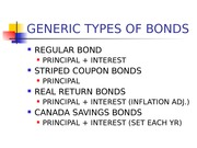 6.6 GENERIC TYPES OF BONDS