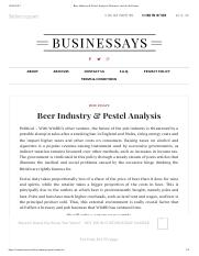 Beer Industry & Pestel Analysis _ Business Articles & Essays