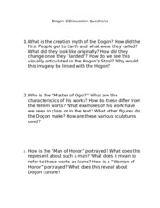 Dogon 2 Discussion Questions