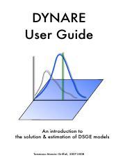 dynare-tutorial - DSGE Models with Dynare A Tutorial Ondra Kamen k