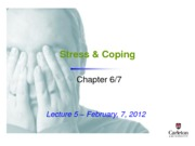 Lecture 5 - Stress %26 Coping