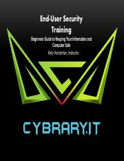 Cybrary EUSA Ch 1 Why is User Security Important